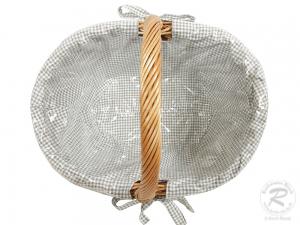 Einkaufskorb Handkorb Weide Korb gefüttert (51x37x40)