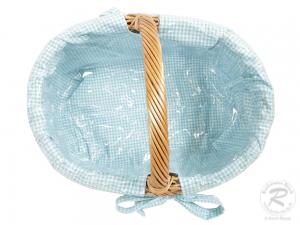 Einkaufskorb Handkorb Weide Korb gefüttert (42x30x22/32)