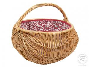 Einkaufskorb Handkorb Weide Korb gefüttert (D:39)