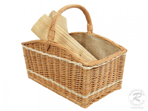 Holzkorb Korb Tragekorb aus gesottener Weide (50x30x43)
