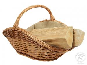 Holzkorb Korb Tragekorb aus gesottener Weide (56x35x33)