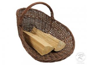 Holzkorb/Dekokorb aus ungeschälter Weide Korb (66x55x44)