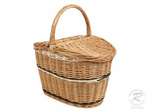 Einkaufskorb Handkorb Weide Korb mit Klappdeckel (41x30x43)