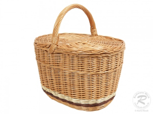 Einkaufskorb Handkorb Weide Korb mit Klappdeckel (42x28x42)