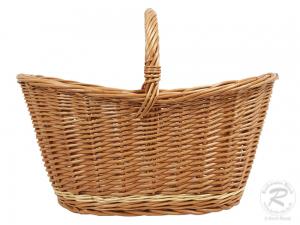 Einkaufskorb Handkorb Weide Korb ungefüttert (50x35x36)