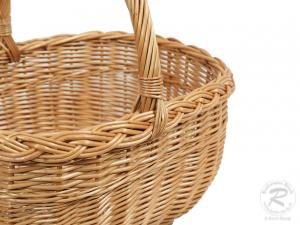 Einkaufskorb Handkorb Weide Korb ungefüttert (42x35x42)