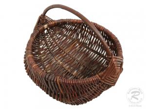 kleiner Gartenkorb, Einkaufskorb, Handkorb, Pflanzkorb Korb aus Weide (D:22)