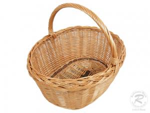 Einkaufskorb Handkorb Weide Korb ungefüttert (50x42x42)