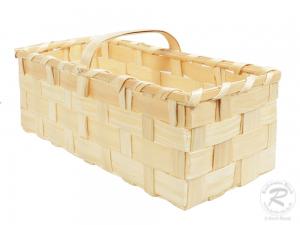 Handkorb, Beerenkorb, Erntekorb, Dekokorb aus Holzspan (53x23x24)