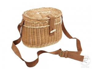 Umhängekorb, Fischerkorb, Einkaufskorb aus Weide Korb (24x18x20)