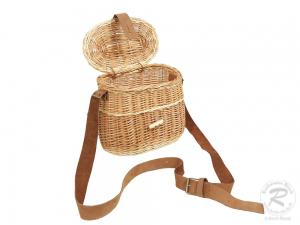 Umhängekorb, Fischerkorb, Einkaufskorb aus Weide Korb (24x13x19)
