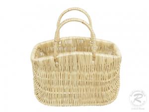 Einkaufskorb mit Klapphenkel, klein, Handkorb Weide Korb ungefüttert (30x15x33)