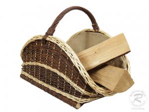 Holzkorb Korb Tragekorb aus gesottener Weide (63x40x43)