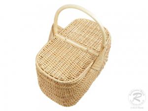 Einkaufskorb Handkorb Weide Korb mit Klappdeckel (41x26x44)