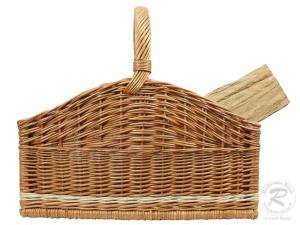 Holzkorb Korb Tragekorb aus gesottener Weide (50x36x45)