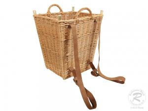 Tragekorb, Kiepe, Rucksackkorb aus gesottener Weide (40x35x49)