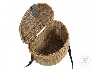 Umhängekorb, Fischerkorb, Einkaufskorb aus Weide Korb (42x27x30)