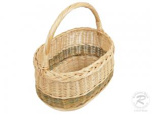 Einkaufskorb Handkorb Weide Korb ungefüttert (29x21x33)