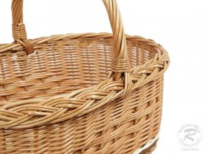 Einkaufskorb Handkorb Weide Korb ungefüttert (47x34x40)