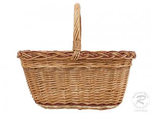Einkaufskorb Handkorb Weide Korb ungefüttert (43x33x37)