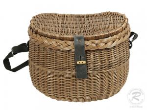 Umhängekorb, Fischerkorb, Einkaufskorb aus Weide Korb (42x28x30)