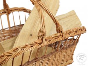 Holzkorb, Tragekorb Kaminholzkorb Korb für Brennholz (54x47x37)
