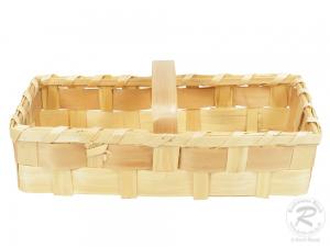 Handkorb, Beerenkorb, Erntekorb, Dekokorb aus Holzspan (45x20x20)