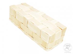 Handkorb, Beerenkorb, Erntekorb, Dekokorb aus Holzspan (38x14x14)