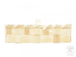 Handkorb, Beerenkorb, Erntekorb, Dekokorb aus Holzspan (28x11x11)