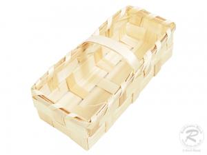 Handkorb, Beerenkorb, Erntekorb, Dekokorb aus Holzspan (18x9x9)