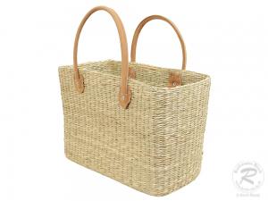 Handtasche Korbtasche robuste Tasche aus Seegras (43x20x48)