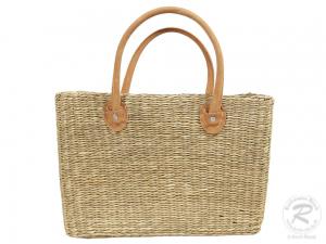 Handtasche Korbtasche robuste Tasche aus Seegras (40x18x43)