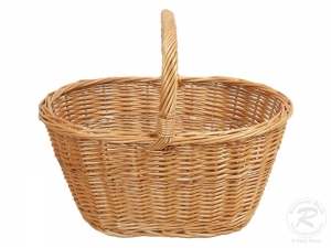 Einkaufskorb, Handkorb, klassischer Weide Korb ungefüttert (46x32x23/37)