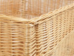Holzkorb, sehr großer Korb aus gesottener Weide (55x44x41)
