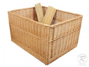 Holzkorb, sehr großer Korb aus gesottener Weide (71x56x41)