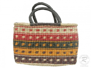 Korbtasche, Handtasche, robuste Tasche aus Seegras (40x18x27)