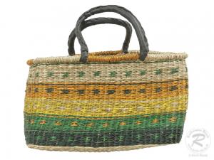Korbtasche, Handtasche, robuste Tasche aus Seegras (45x19x30)