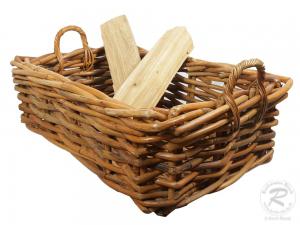 Holzkorb Korb Tragekorb aus Rohr ungefüttert (82x58x38)
