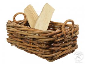 Holzkorb Korb Tragekorb aus Rohr ungefüttert (63x41x31)