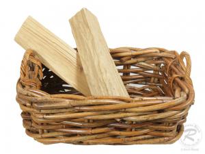 Holzkorb Korb Tragekorb aus Rohr ungefüttert (60x38x20/30)