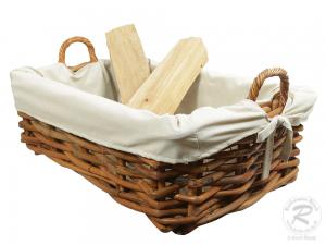 Holzkorb Korb Tragekorb aus Rohr gefüttert (82x58x38)
