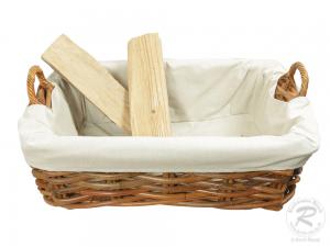 Holzkorb Korb Tragekorb aus Rohr gefüttert (80x57x38)