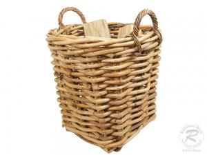 Holzkorb Korb Tragekorb aus Rohr ungefüttert (D:50x58)