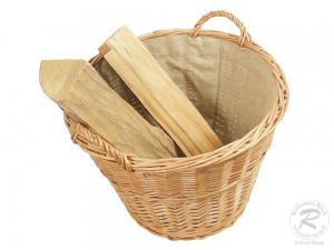 Holzkorb, Tragekorb, Pflanzkorb, Gartenkorb, Korb gefüttert (D:50)
