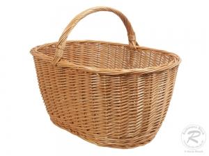 Einkaufskorb, Handkorb, klassischer Weide Korb ungefüttert (60x41x44)