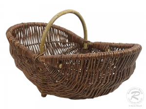 Gartenkorb, Einkaufskorb, Handkorb, Pflanzkorb Korb aus Weide (48x25x14/21)