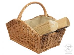 Holzkorb Korb Tragekorb aus gesottener Weide (58x41x29/45)