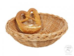 Brotkorb, Dekokorb aus Weide (D:23cm H:7cm)