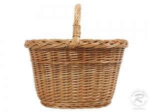 Einkaufskorb Handkorb Weide Korb gefüttert (40x30x25/38)