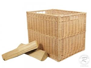 Holzkorb, sehr großer Korb aus gesottener Weide (62x50x50)
